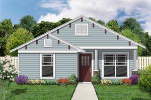 Cottage Exterior - Front Elevation Plan #84-494