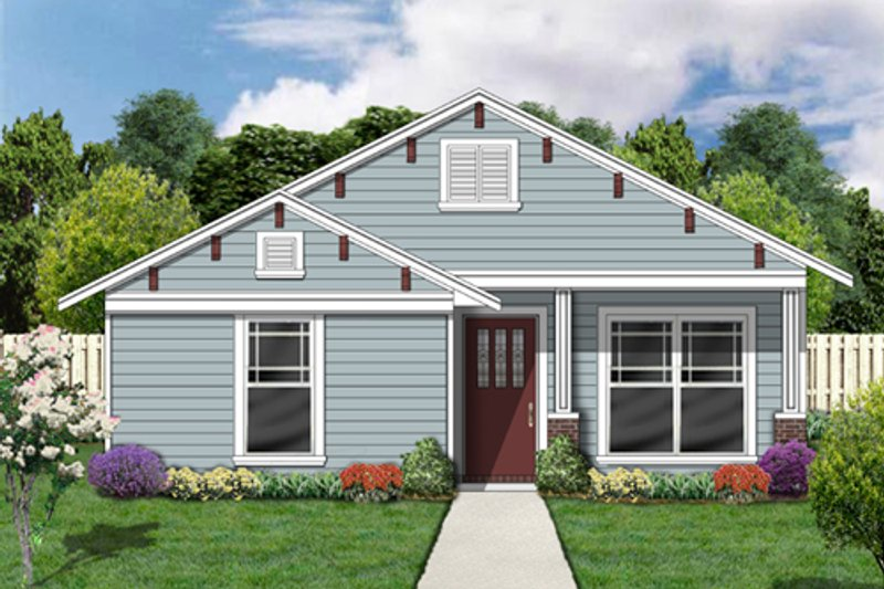 Cottage Style House Plan - 4 Beds 2 Baths 1398 Sq/Ft Plan #84-494 Exterior - Front Elevation