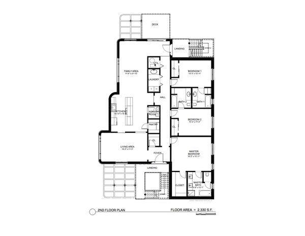 Contemporary Floor Plan - Main Floor Plan Plan #535-17