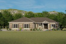 Ranch Exterior - Front Elevation Plan #1064-28