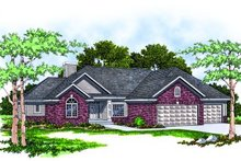 Dream House Plan - Traditional Exterior - Front Elevation Plan #70-204