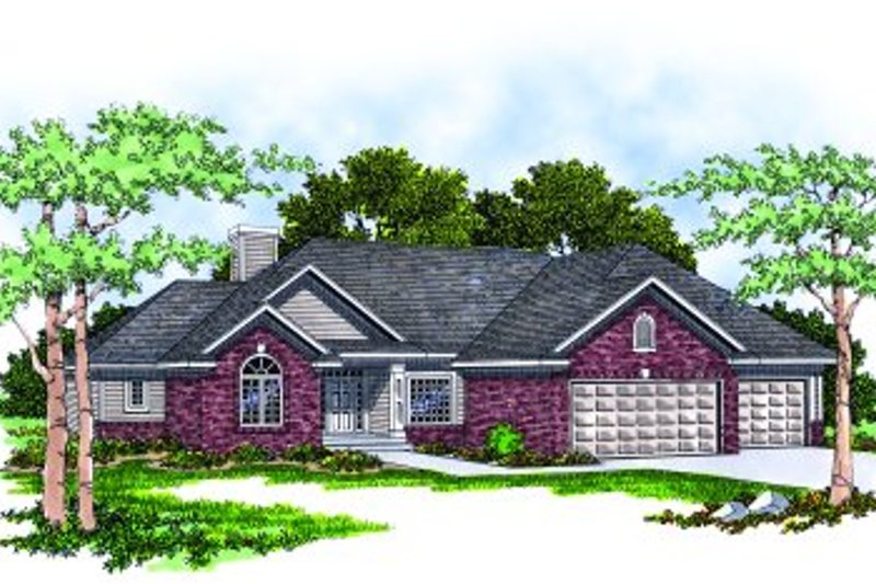 Traditional Exterior - Front Elevation Plan #70-204