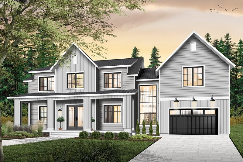 Home Plan - Farmhouse Exterior - Front Elevation Plan #23-2688