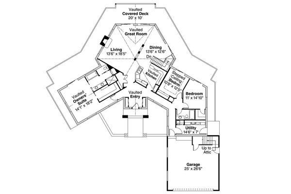 Traditional Floor Plan - Main Floor Plan Plan #124-1168