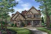 Craftsman Style House Plan - 4 Beds 3 Baths 2876 Sq/Ft Plan #929-30 Exterior - Front Elevation