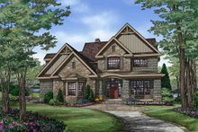 Dream House Plan - Craftsman Exterior - Front Elevation Plan #929-30