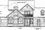 Traditional Style House Plan - 4 Beds 3.5 Baths 3501 Sq/Ft Plan #23-331 Exterior - Rear Elevation