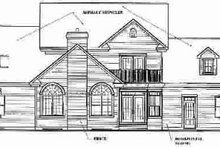 Dream House Plan - Traditional Exterior - Rear Elevation Plan #23-331