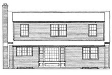 Colonial Exterior - Rear Elevation Plan #72-204