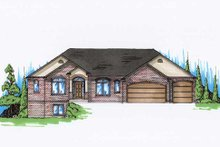 Home Plan - Traditional Exterior - Front Elevation Plan #5-268