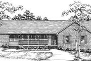 Ranch Style House Plan - 3 Beds 2 Baths 2041 Sq/Ft Plan #30-168 Exterior - Front Elevation