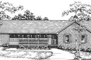 Ranch Exterior - Front Elevation Plan #30-168