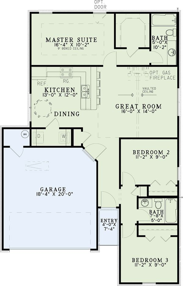 Cottage Floor Plan - Main Floor Plan Plan #17-2535