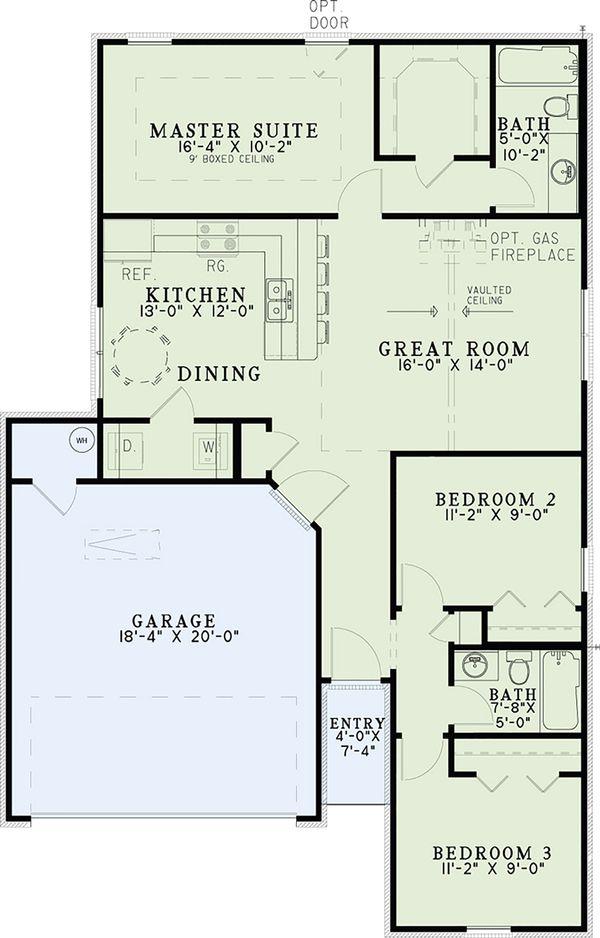 Home Plan - Cottage Floor Plan - Main Floor Plan #17-2535