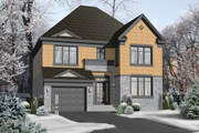 European Style House Plan - 4 Beds 2 Baths 2268 Sq/Ft Plan #25-4568 Exterior - Front Elevation