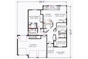 House Plan - 3 Beds 2 Baths 1871 Sq/Ft Plan #414-102 Floor Plan - Main Floor