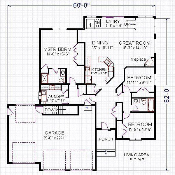 Floor Plan - Main Floor Plan #414-102