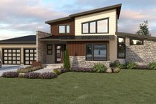 Architectural House Design - Contemporary Exterior - Front Elevation Plan #1070-44
