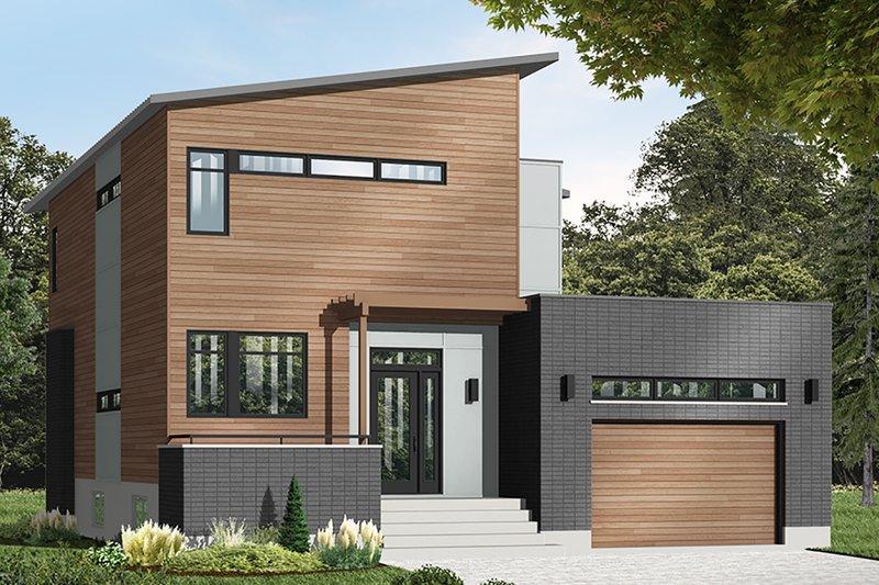 House Blueprint - Modern Exterior - Front Elevation Plan #23-2700