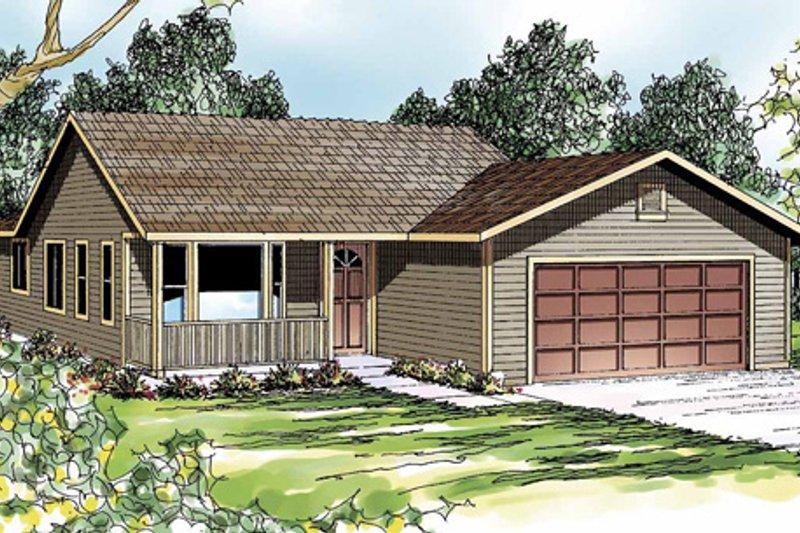 Ranch Exterior - Front Elevation Plan #124-303 - Houseplans.com