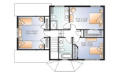 Traditional Style House Plan - 3 Beds 2.5 Baths 1465 Sq/Ft Plan #23-2624 Floor Plan - Upper Floor