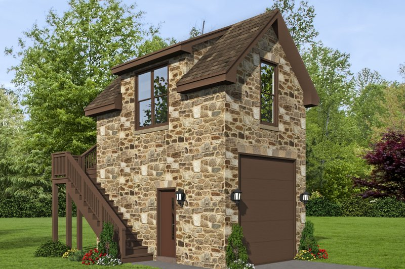 Home Plan - Country Exterior - Front Elevation Plan #932-302