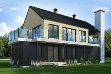 House Design - Contemporary Exterior - Rear Elevation Plan #23-2648