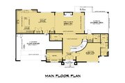Contemporary Style House Plan - 5 Beds 4.5 Baths 3796 Sq/Ft Plan #1066-128 Floor Plan - Main Floor