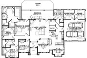 Traditional Style House Plan - 4 Beds 2 Baths 2804 Sq/Ft Plan #63-393 Floor Plan - Main Floor Plan
