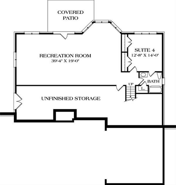 Traditional Floor Plan - Lower Floor Plan Plan #453-40