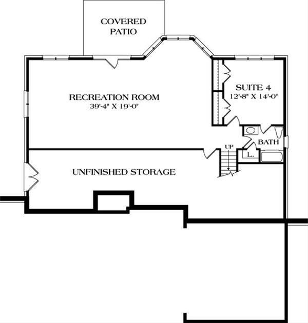 Traditional Floor Plan - Lower Floor Plan #453-40