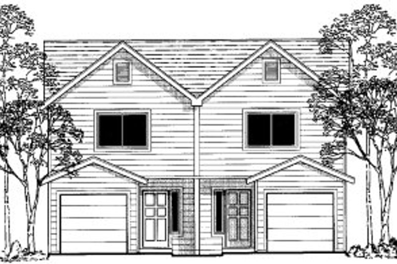 Traditional Style House Plan - 2 Beds 2.5 Baths 1916 Sq/Ft Plan #303-361 Exterior - Front Elevation