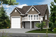 Country Style House Plan - 0 Beds 0 Baths 637 Sq/Ft Plan #25-4754 Exterior - Front Elevation