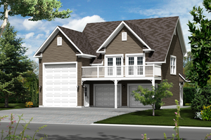 Country Exterior - Front Elevation Plan #25-4754