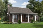 Bungalow Style House Plan - 1 Beds 1 Baths 960 Sq/Ft Plan #48-666 Exterior - Rear Elevation