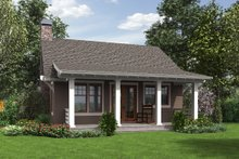Architectural House Design - Bungalow Exterior - Rear Elevation Plan #48-666