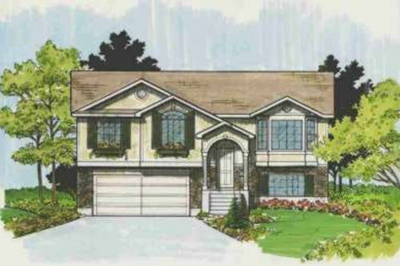 Traditional Style House Plan - 4 Beds 2 Baths 1624 Sq/Ft Plan #308-133 Exterior - Front Elevation