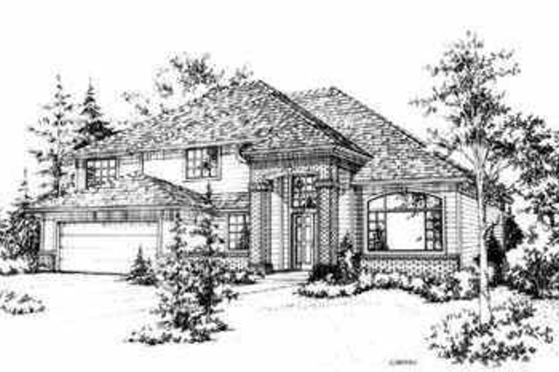 Traditional Style House Plan - 4 Beds 2.5 Baths 2268 Sq/Ft Plan #78-116 Exterior - Front Elevation