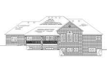 Home Plan - Traditional Exterior - Rear Elevation Plan #5-286