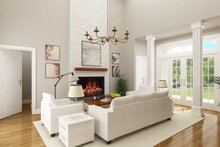 Dream House Plan - Farmhouse Interior - Family Room Plan #45-584