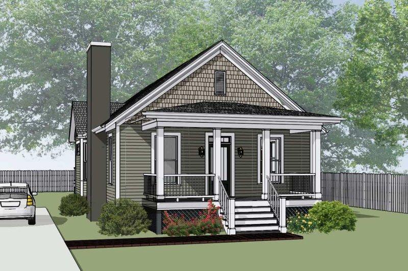 Dream House Plan - Bungalow Exterior - Front Elevation Plan #79-174