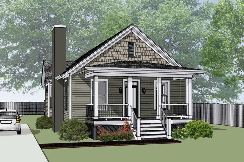 Home Plan - Bungalow Exterior - Front Elevation Plan #79-174