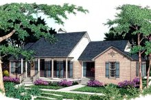 Dream House Plan - Southern Exterior - Front Elevation Plan #406-173