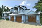 Mediterranean Style House Plan - 4 Beds 4.5 Baths 4513 Sq/Ft Plan #548-14 Exterior - Front Elevation