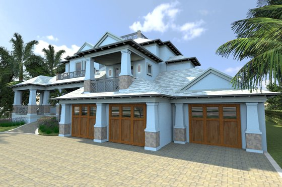 Mediterranean Exterior - Front Elevation Plan #548-14
