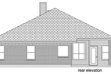Dream House Plan - Traditional Exterior - Rear Elevation Plan #84-615