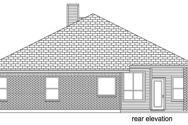 Traditional Exterior - Rear Elevation Plan #84-615 - Houseplans.com