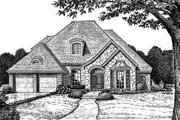 European Style House Plan - 4 Beds 3.5 Baths 2567 Sq/Ft Plan #310-212 Exterior - Front Elevation
