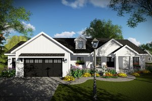 Craftsman Exterior - Front Elevation Plan #70-1479