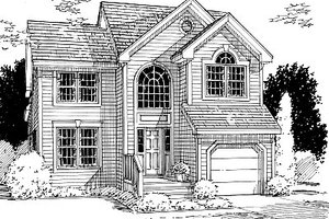 Traditional Exterior - Front Elevation Plan #12-205